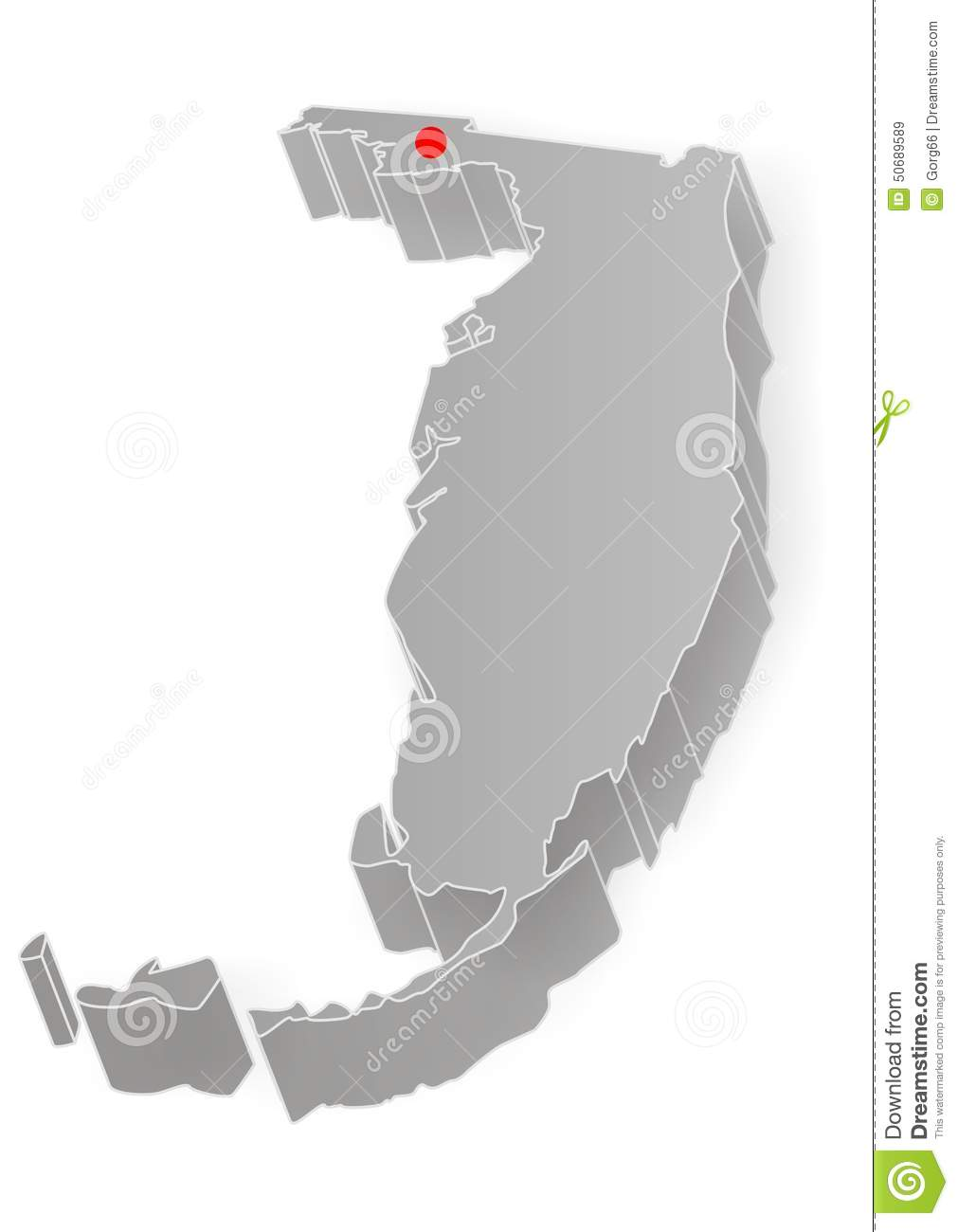 Florida State Map Stock Vector - Image: 50689589