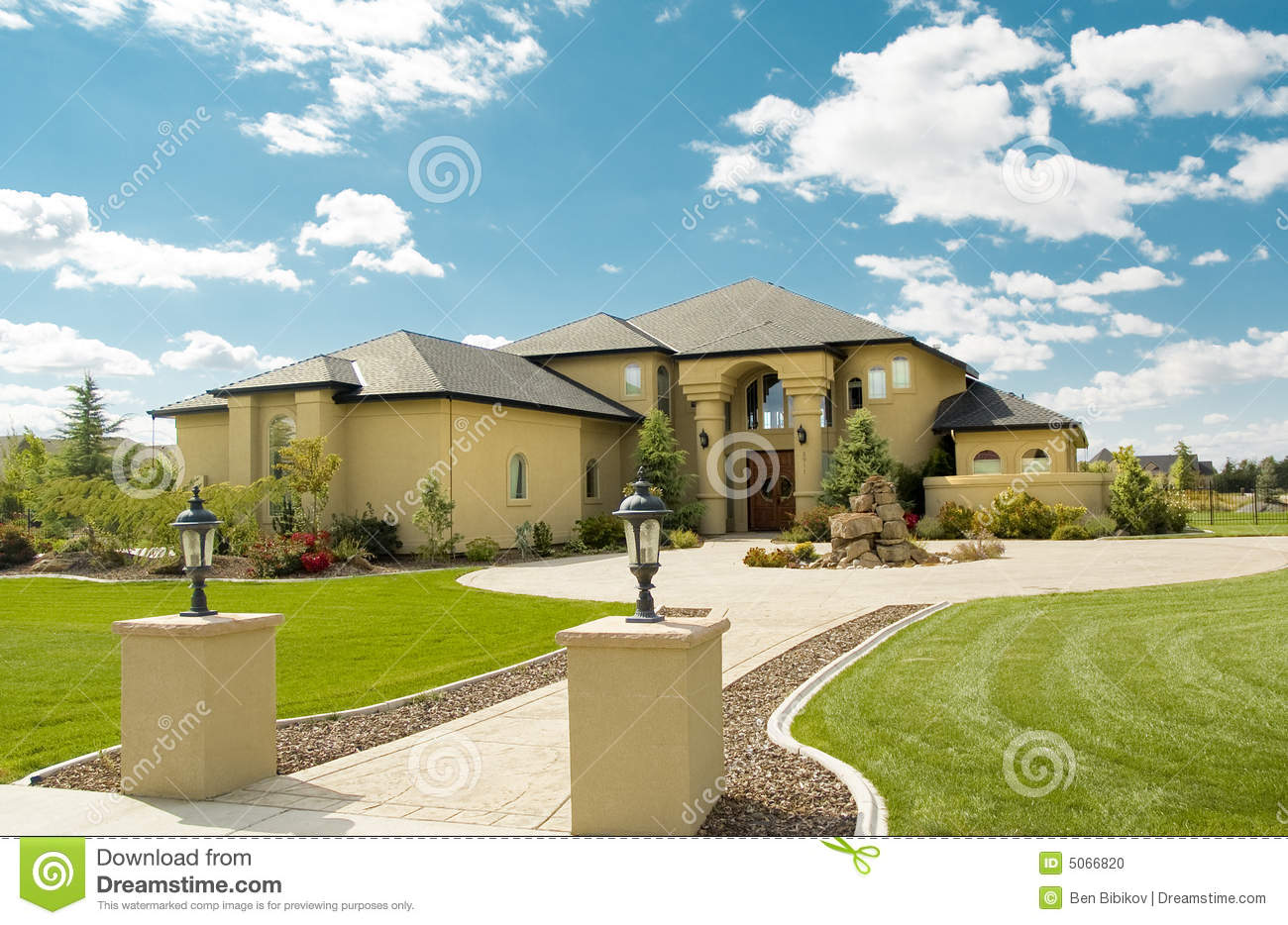 Florida Style Home Stock Photo Image Of Grass House