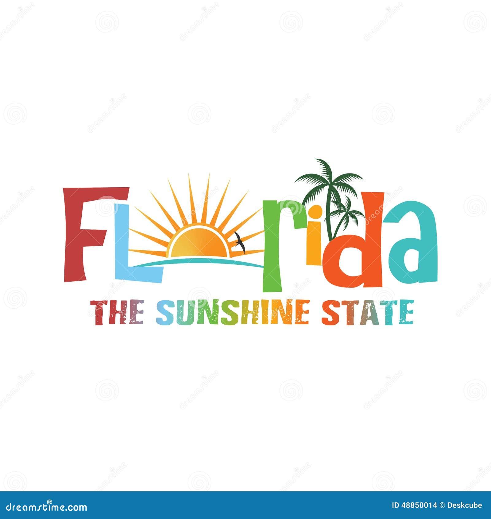 Florida Wording Theme Stock Vector - Image: 48850014