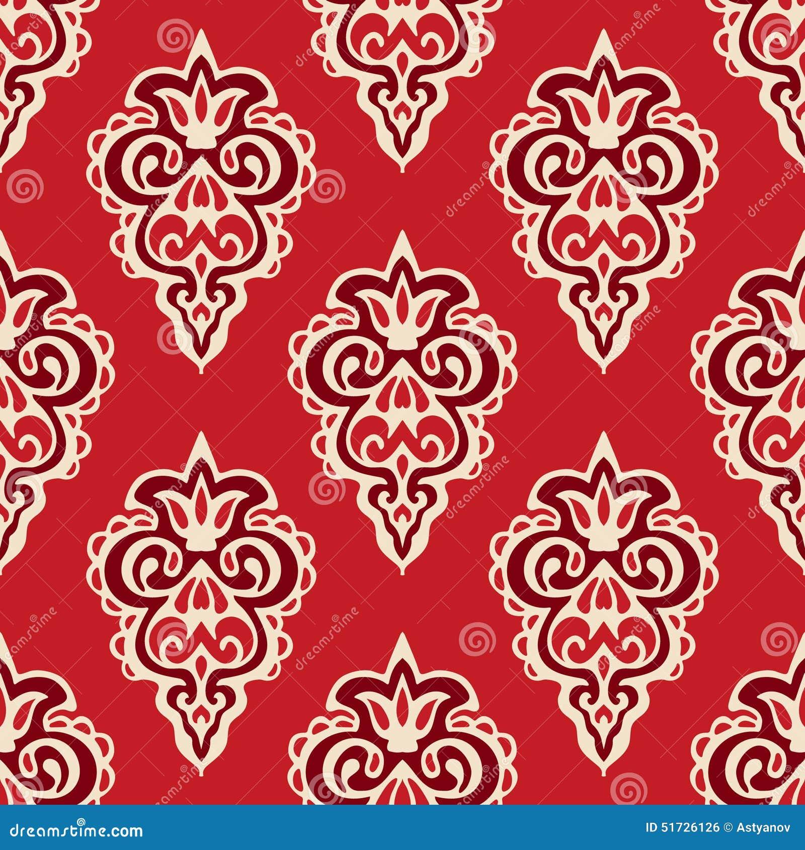 Florish锦缎无缝的传染媒介的样式