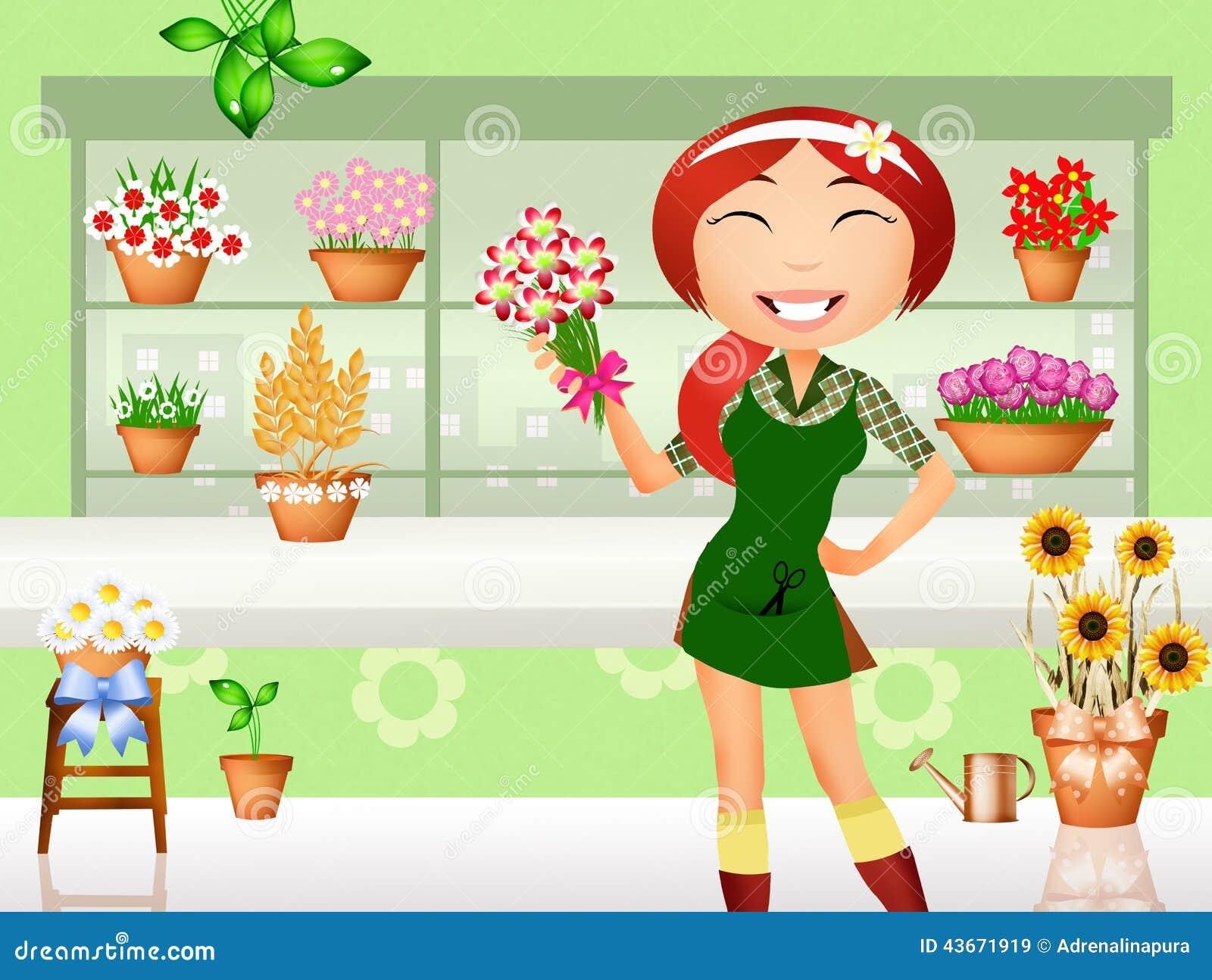 florist stock illustration image 43671919