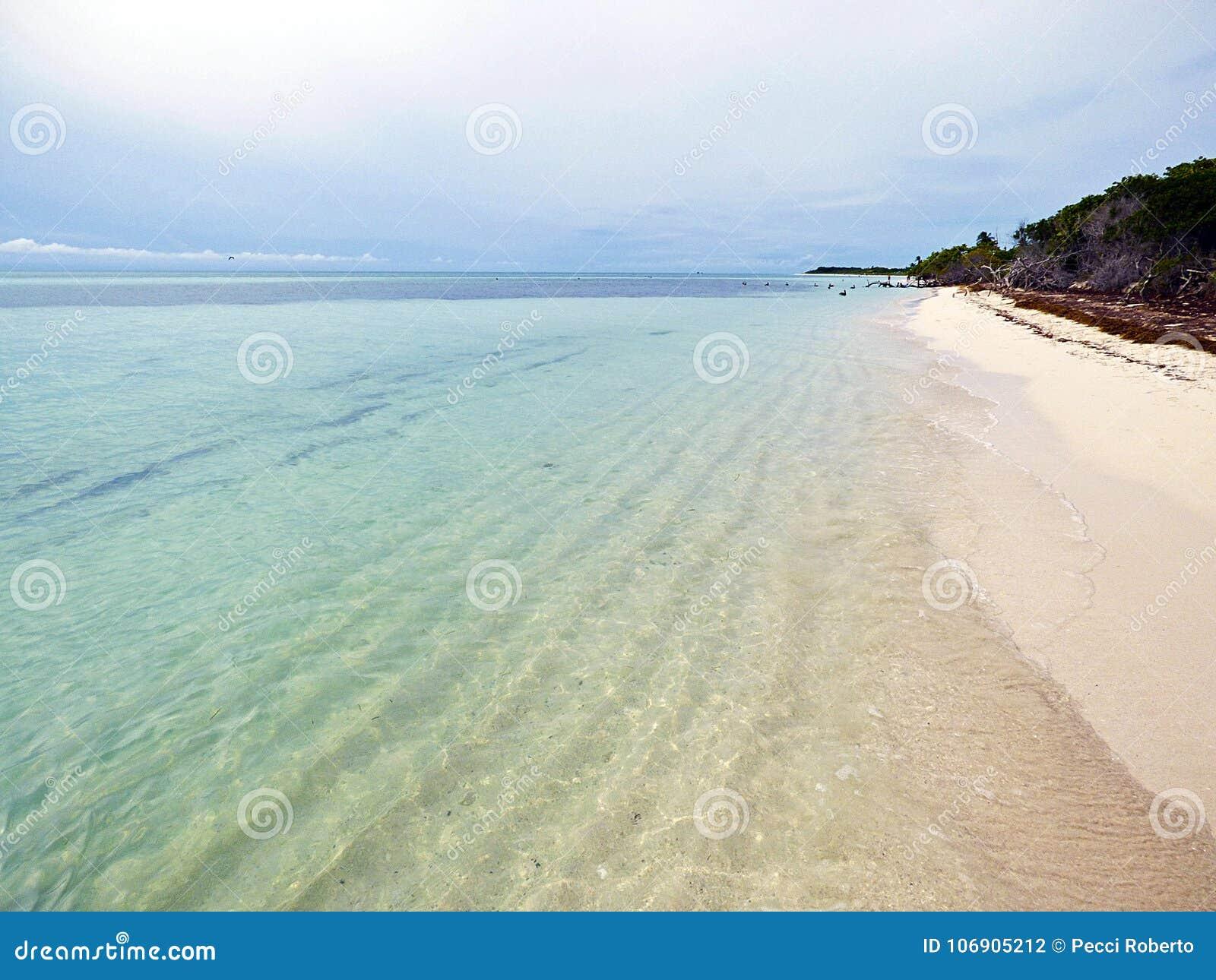Floryda Klucze Stanu park Bahia Honda, widok plaża