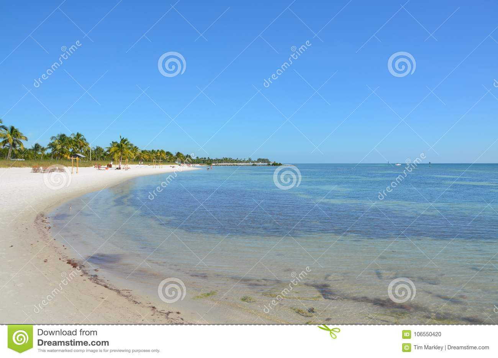 Floryda linia brzegowa w lecie