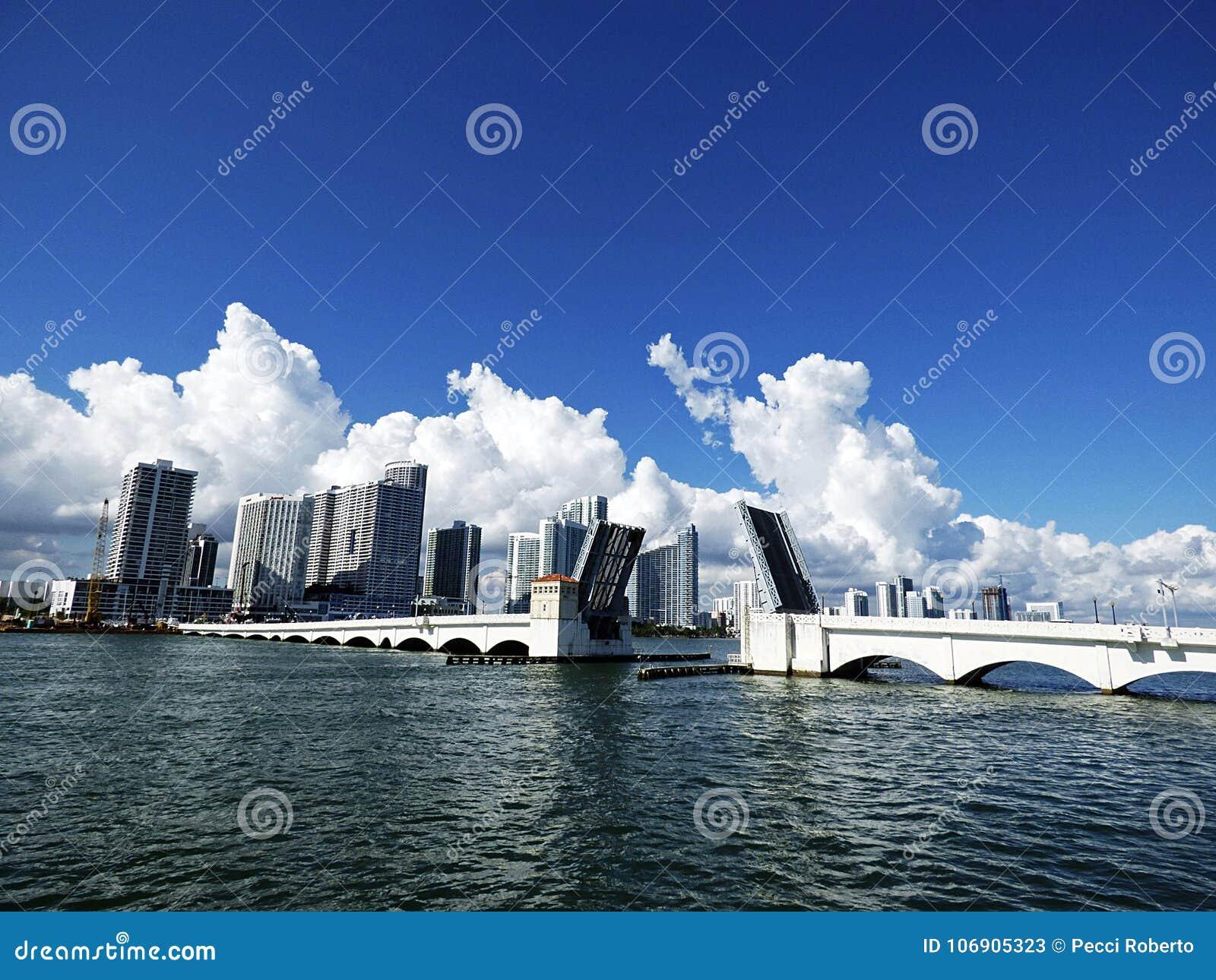 Floryda, Maiami, Panoramiczny widok zatoka,