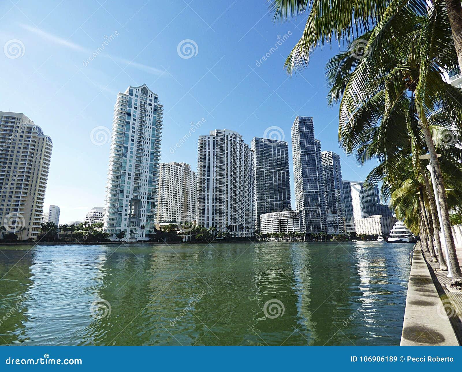 Floryda, Maiami, panoramiczny widok zatoka
