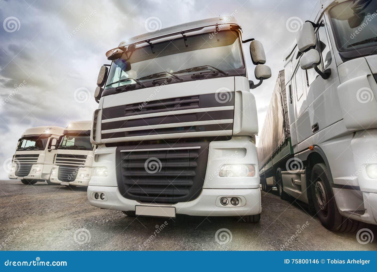 Flota de camión llana