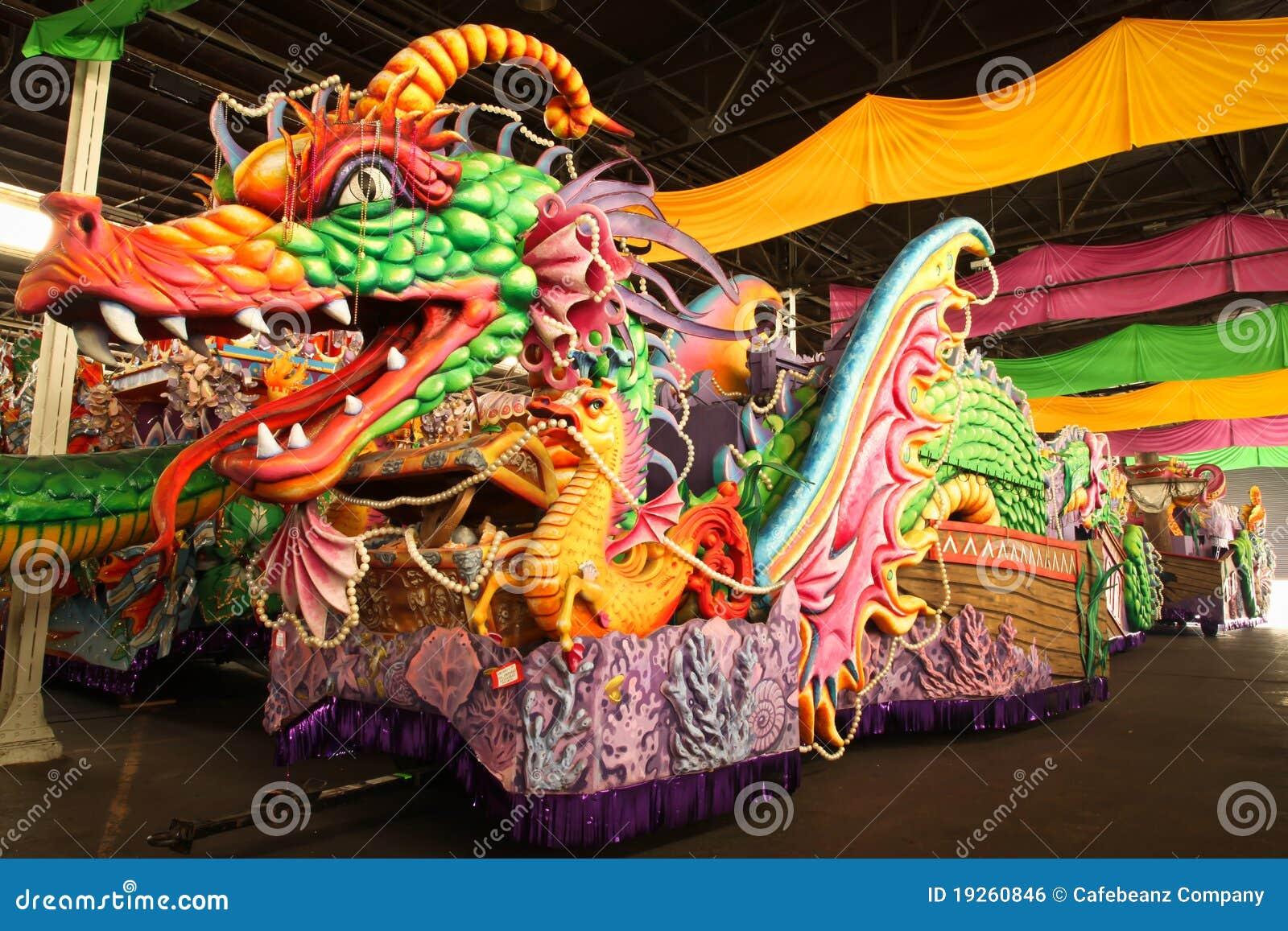 Flotador del desfile del carnaval