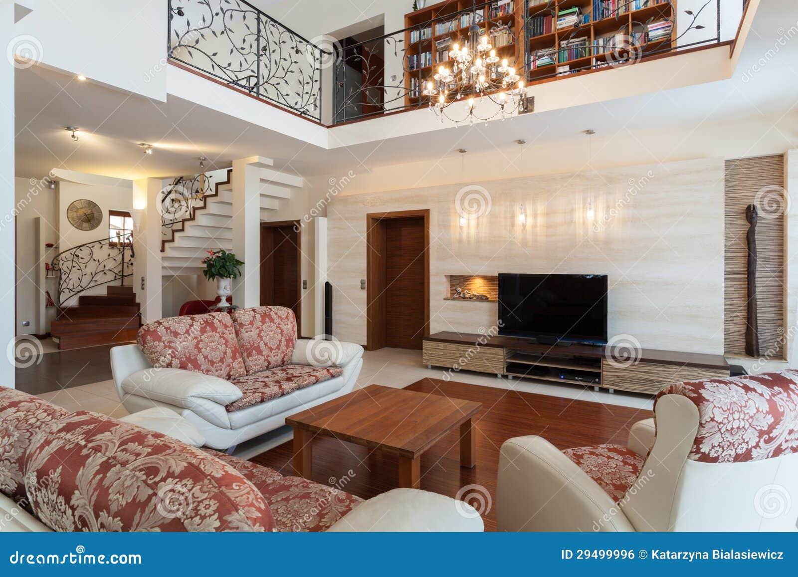 Flott hus - elegantt vardagsrum
