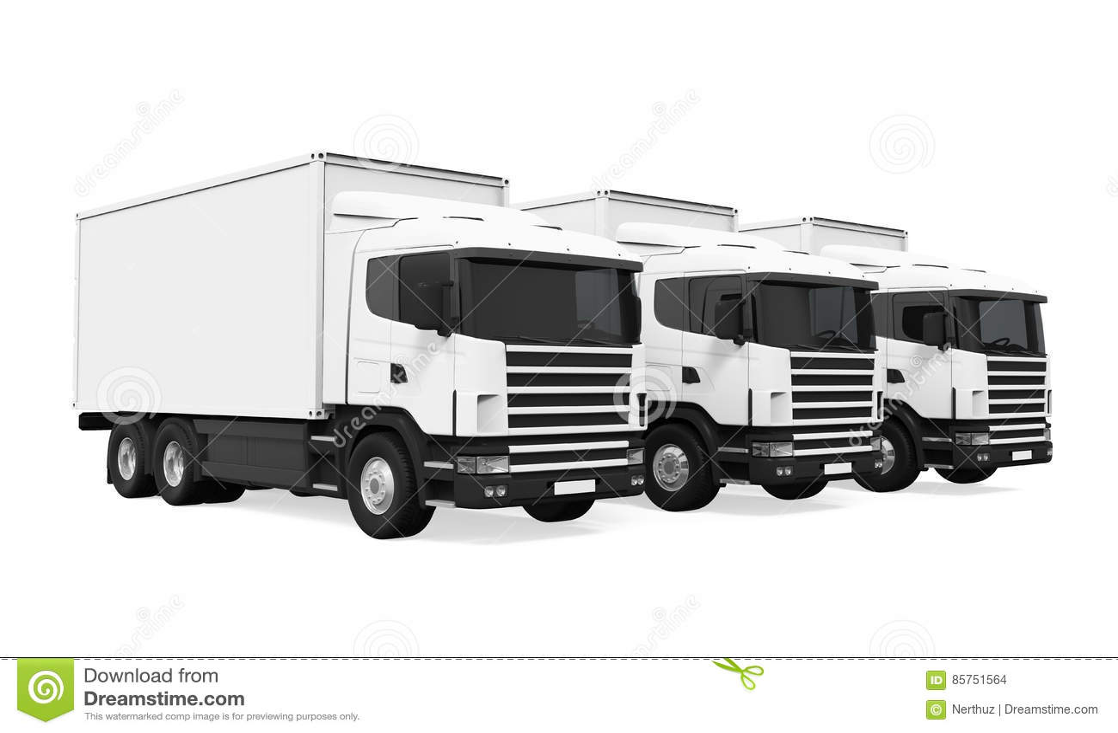 Flotta di camion isolata