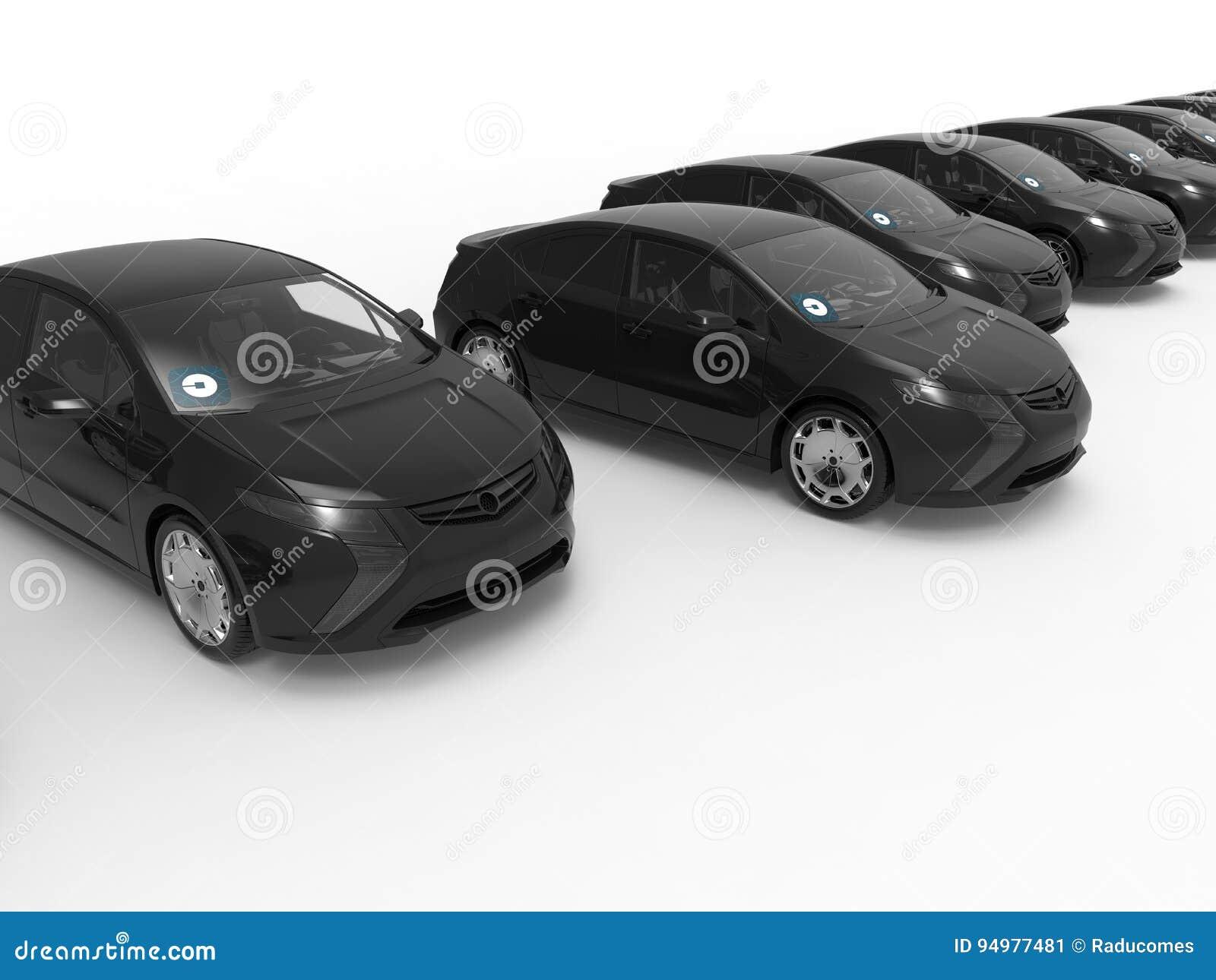 Flotte de voiture de noir d Uber