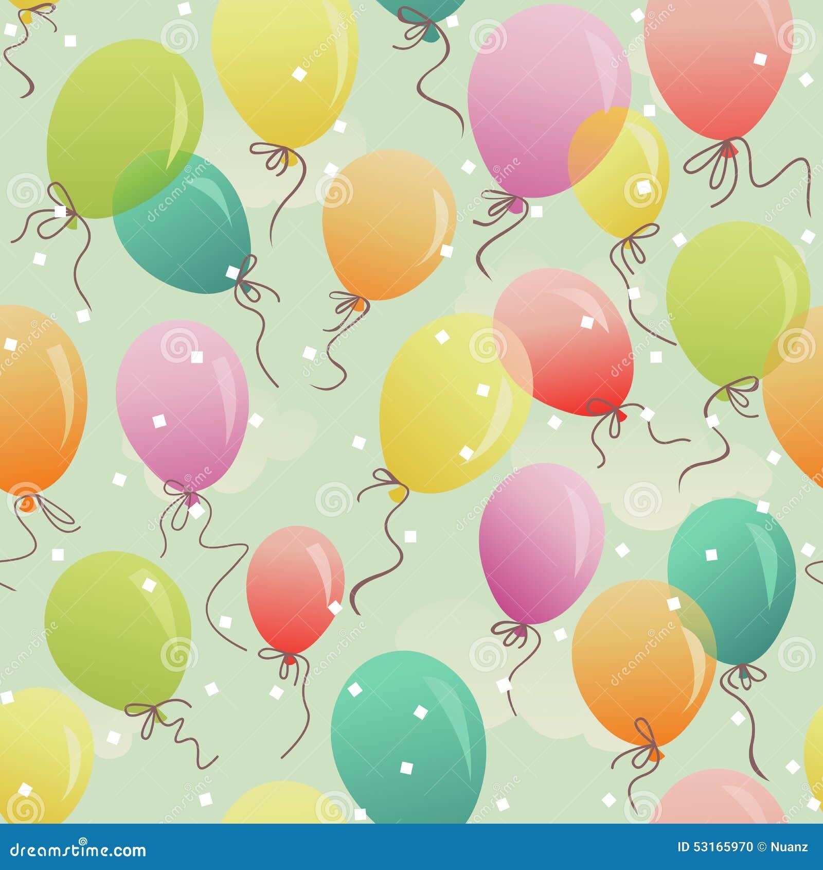 Flottement coloré sans couture de ballons