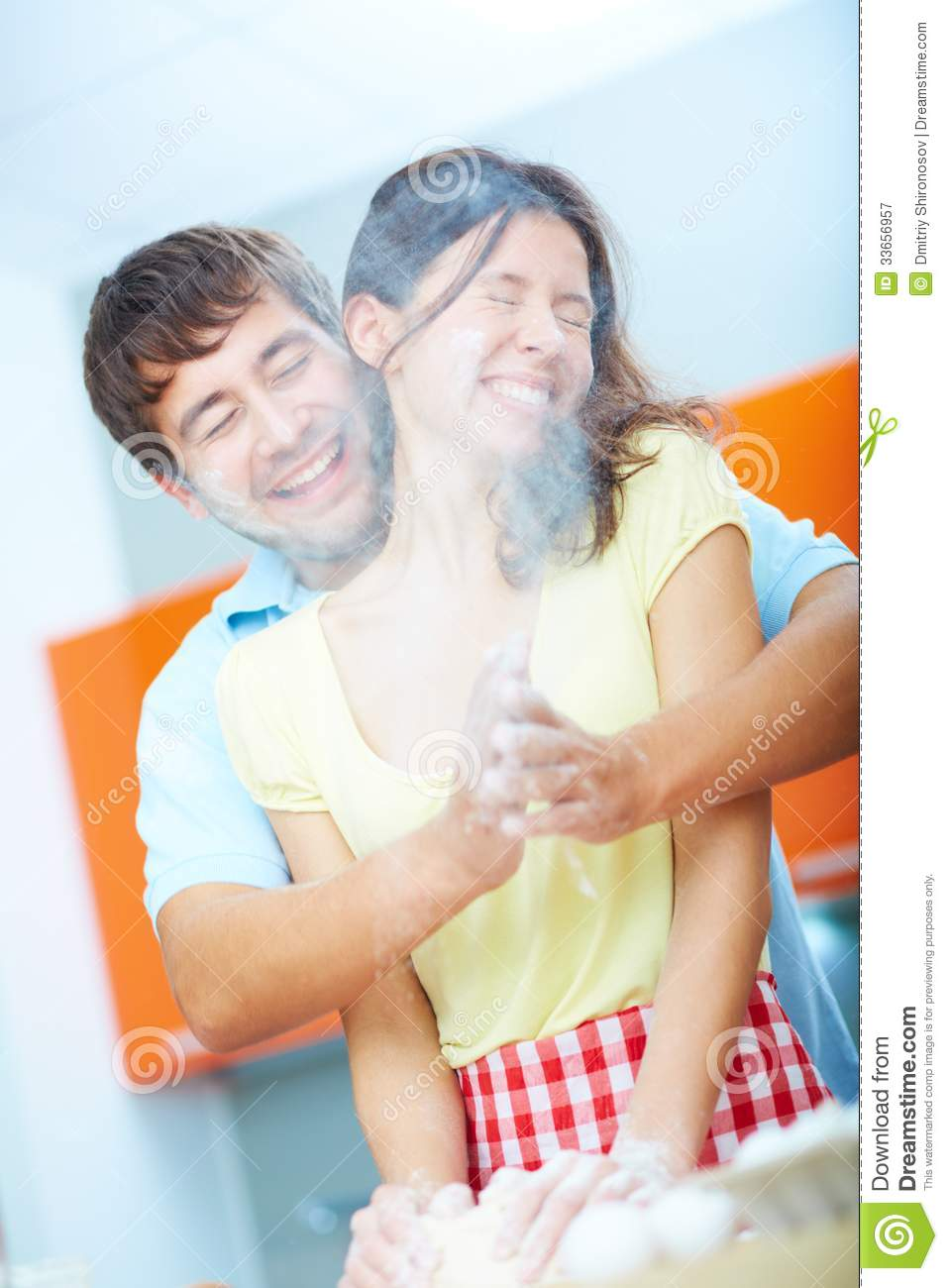 man and his wife making love