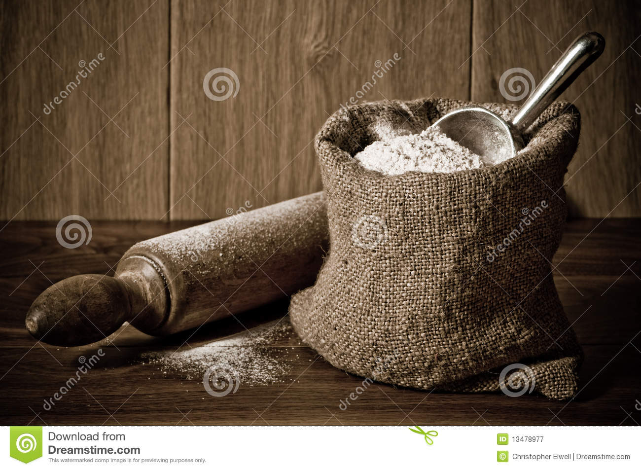 Flour Sack Royalty Free Stock Photography Image 13478977