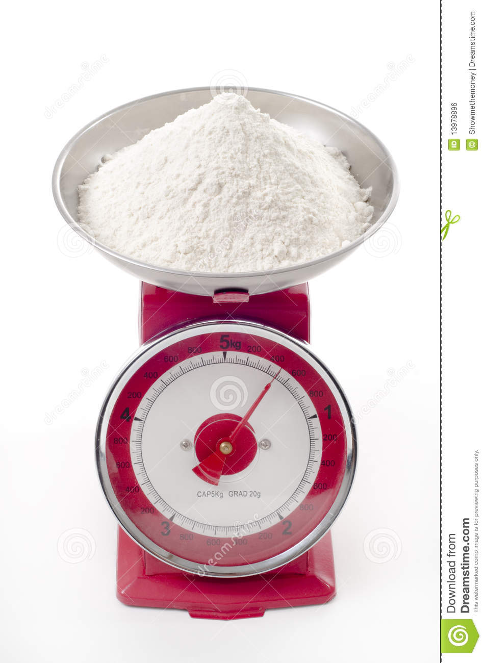 Flour On Scales Royalty Free Stock Image Image 13978896
