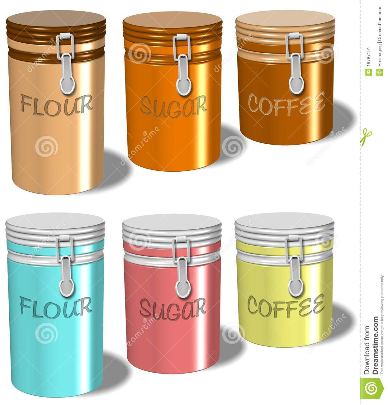 flour sugar coffee containers stock illustration illustration of sugar product 19787191. Black Bedroom Furniture Sets. Home Design Ideas