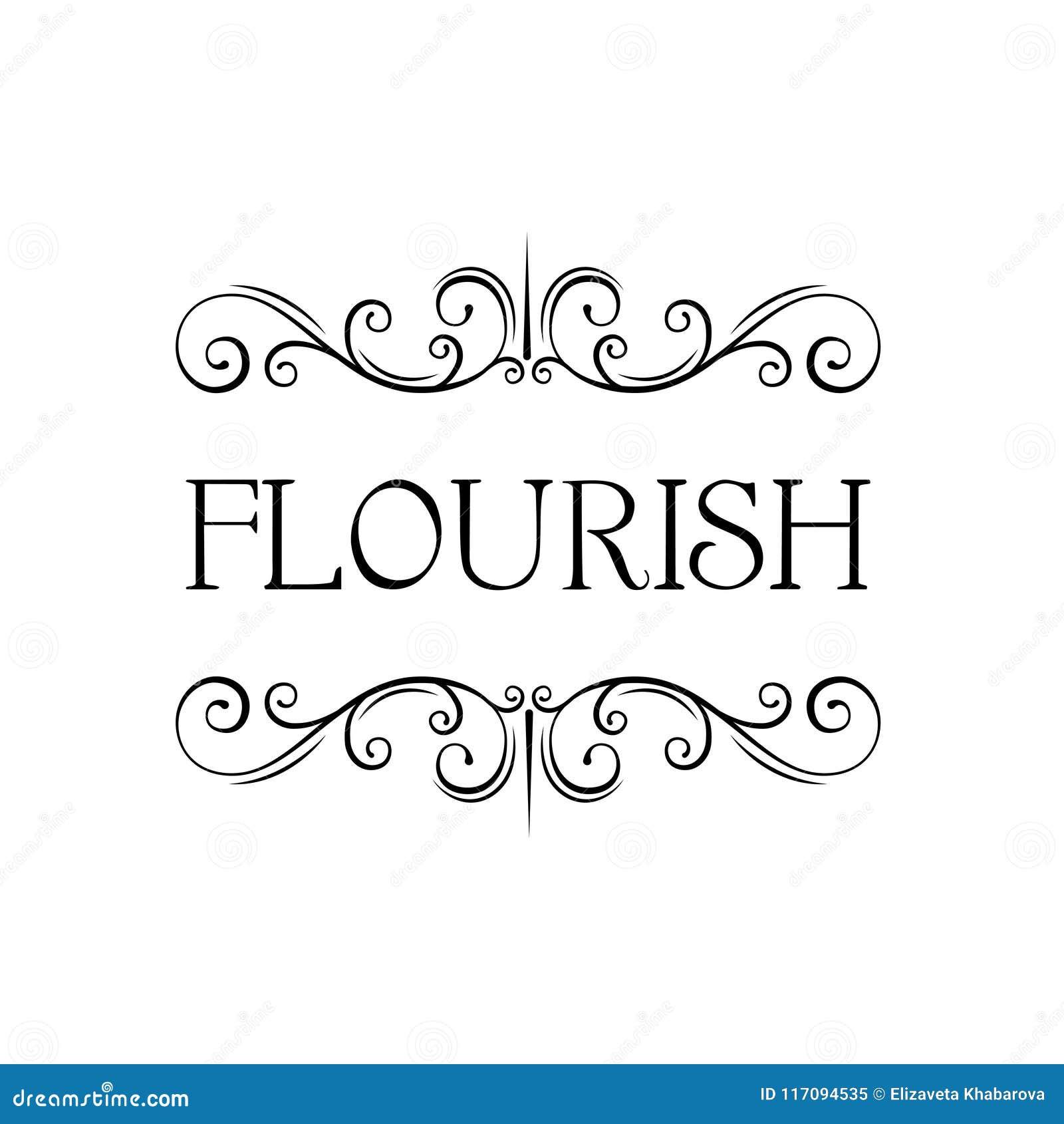 Flourish calligraphic frame. Swirly page decoration. Filigree scroll pattern. Wedding invitation, Greeting card design. Vector.