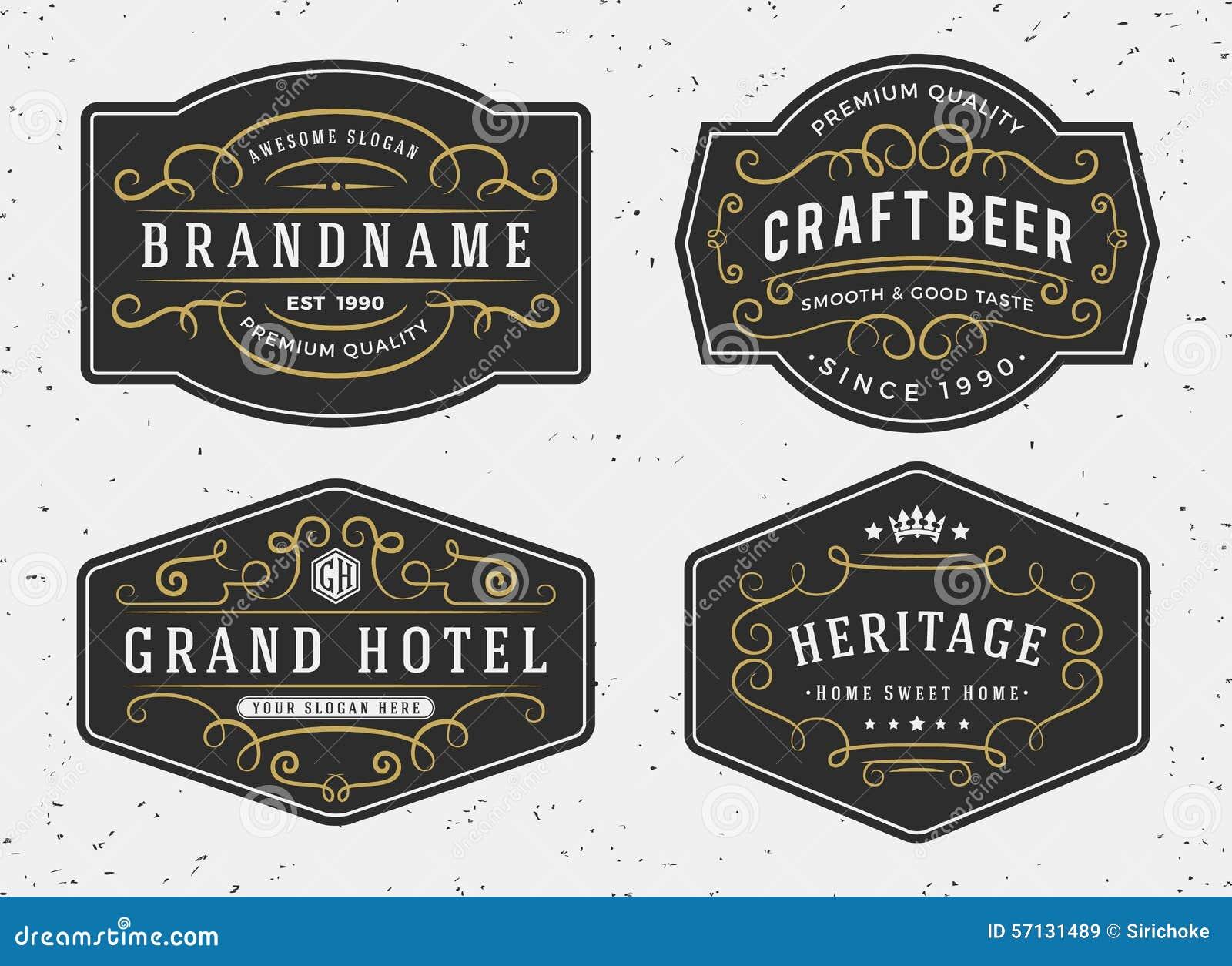 Flourish Calligraphy Frame Design For Labels, Banner Stock
