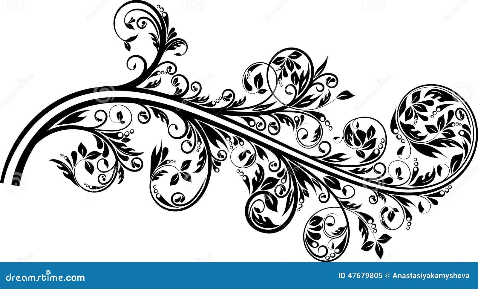 flourish ornament stock vector image of swirl fantasy. Black Bedroom Furniture Sets. Home Design Ideas