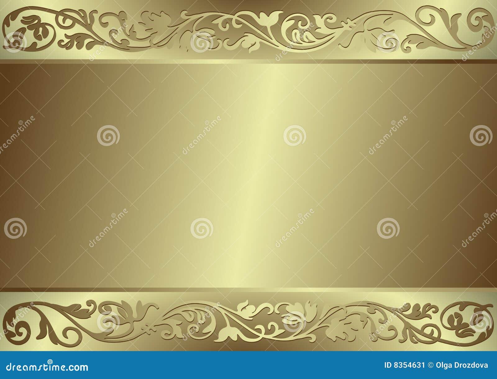 Flourishes e priorità bassa dell oro