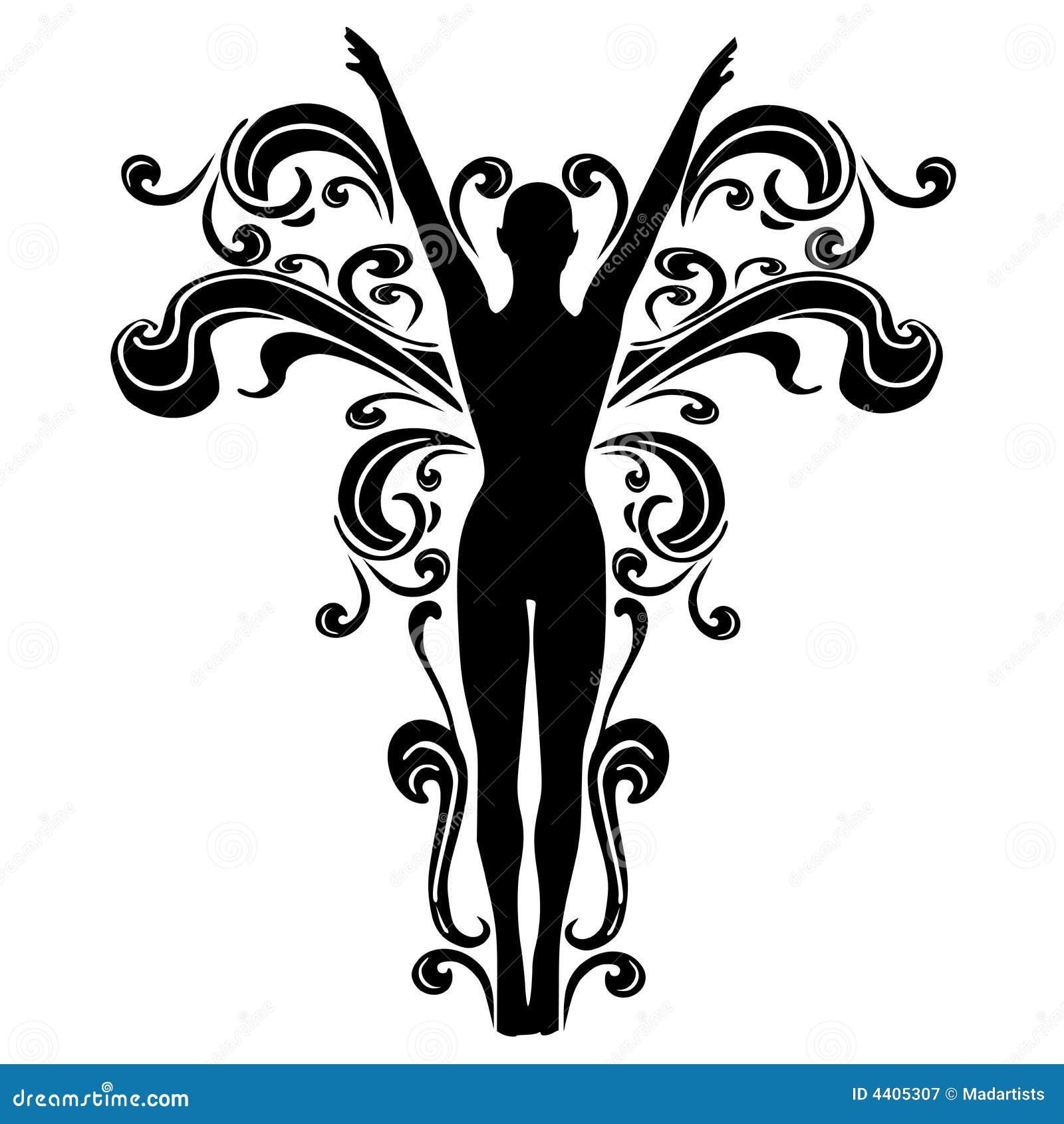flourishes female tattoo design 2 royalty free stock photography image 4405307. Black Bedroom Furniture Sets. Home Design Ideas