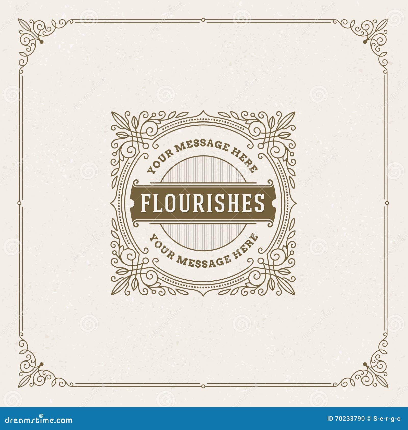 Flourishes Logo template