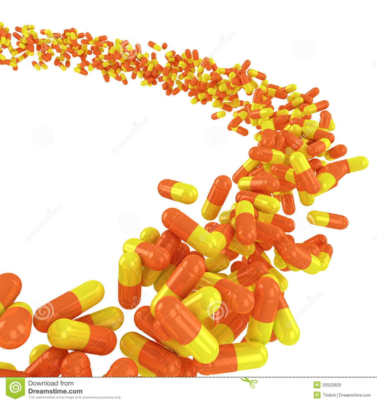 Flow Of Capsules Royalty Free Stock Images - Image: 25522829
