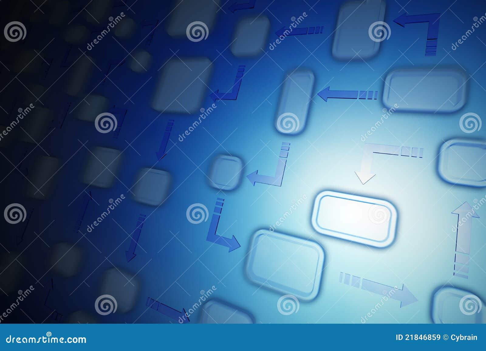 Flow Chart Background Stock Illustration  Image Of