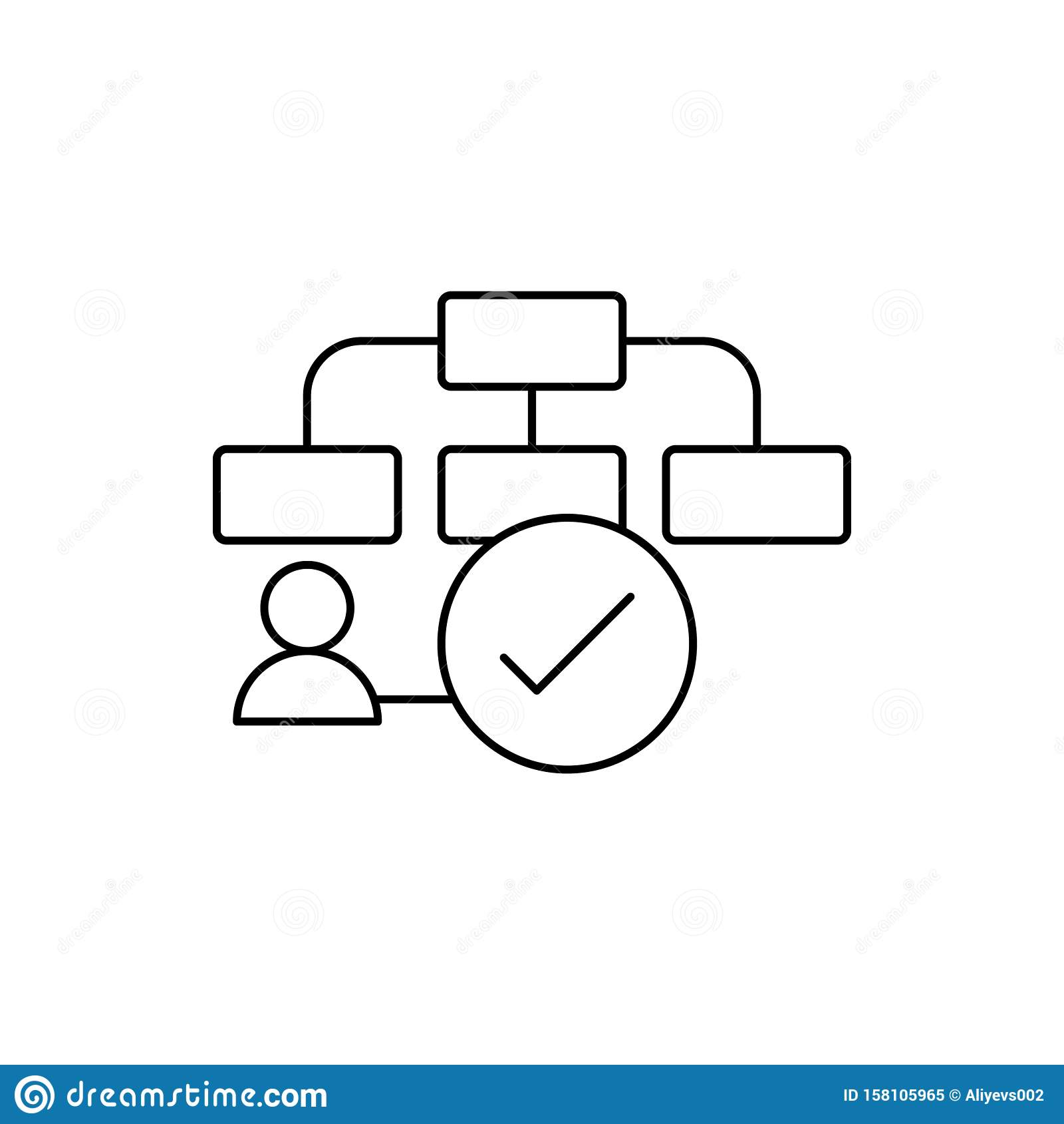 Flow Chart Plan Icon  Element Of User Experience Icon Stock Illustration