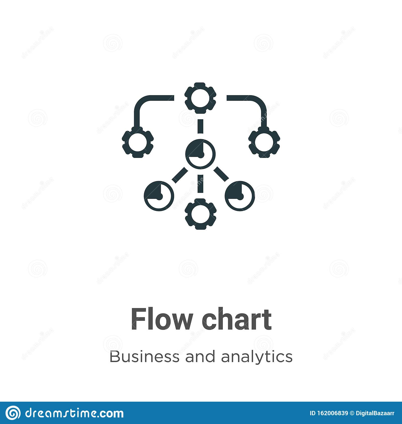 Flow Chart Vector Icon On White Background  Flat Vector Flow Chart Icon Symbol Sign From Modern