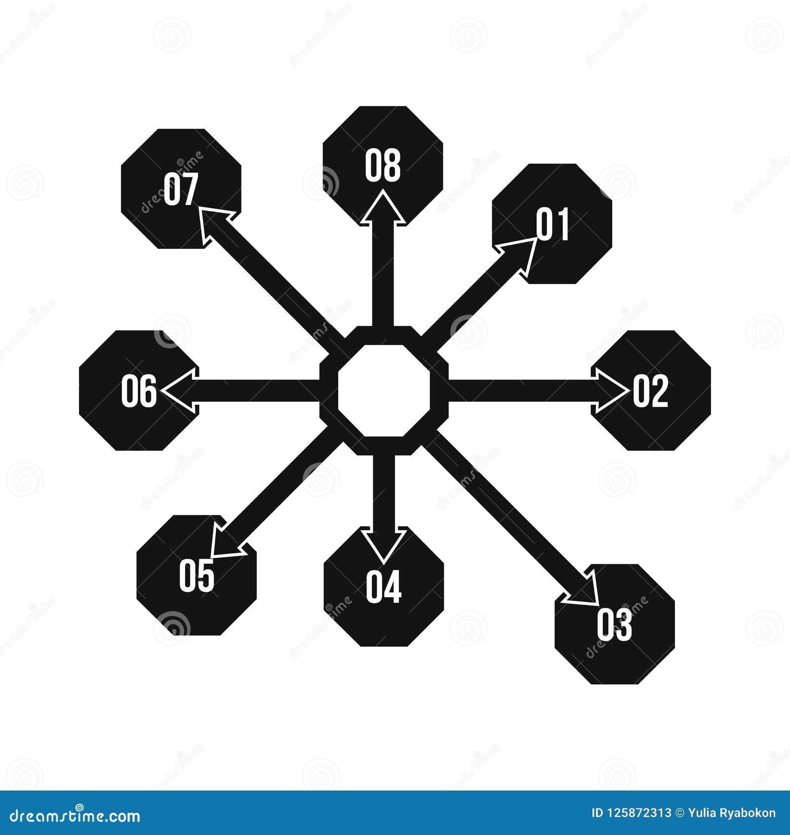 Flowchart диаграмма, значок схемы, простой стиль