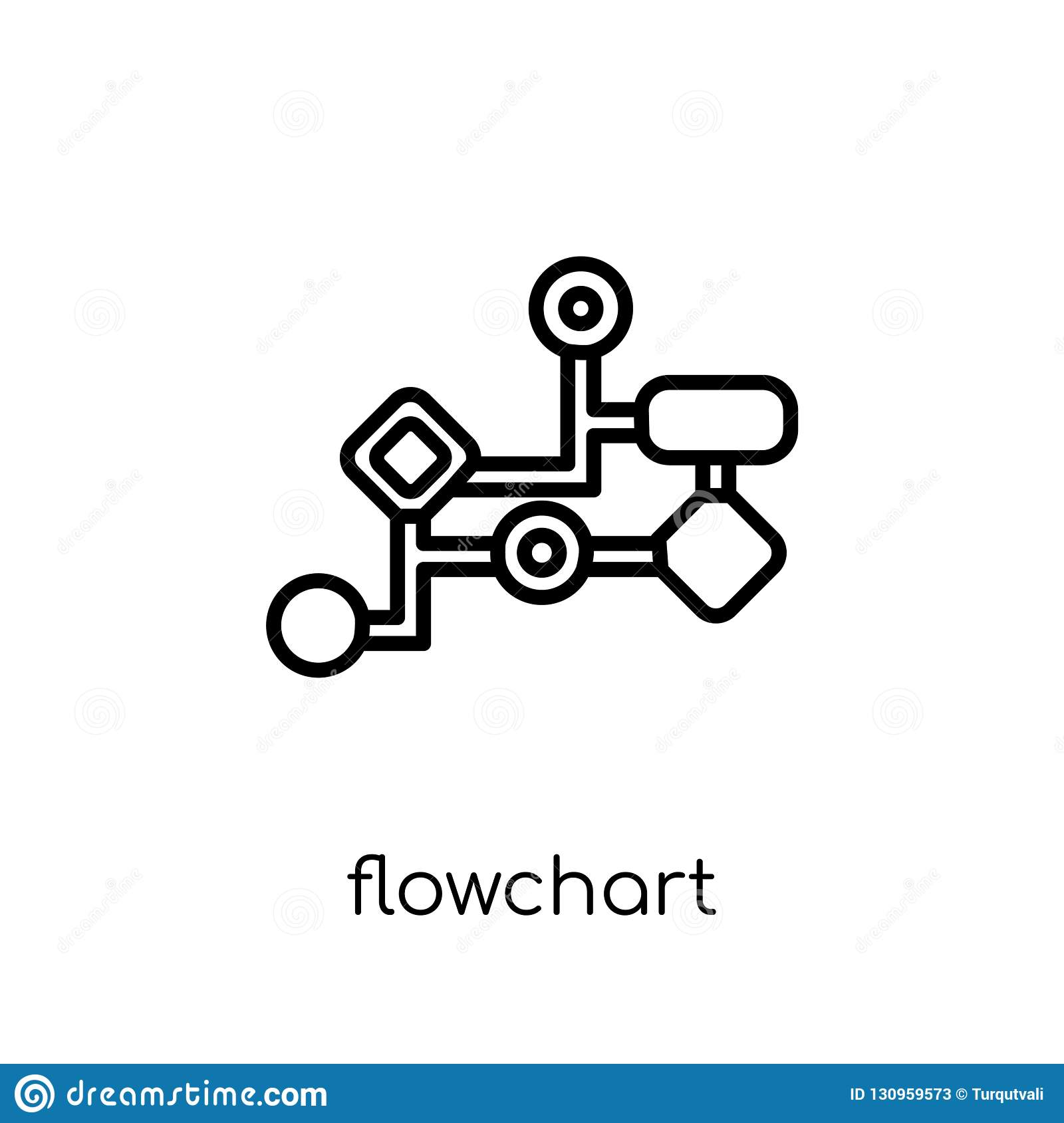 Flowchart icon from collection.