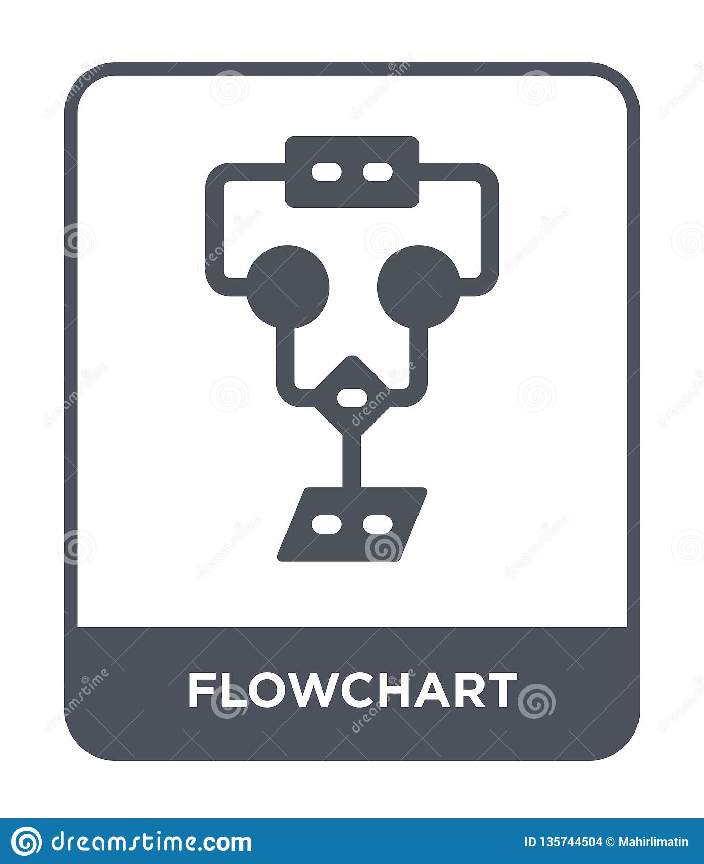 flowchart icon in trendy design style. flowchart icon isolated on white background. flowchart vector icon simple and modern flat