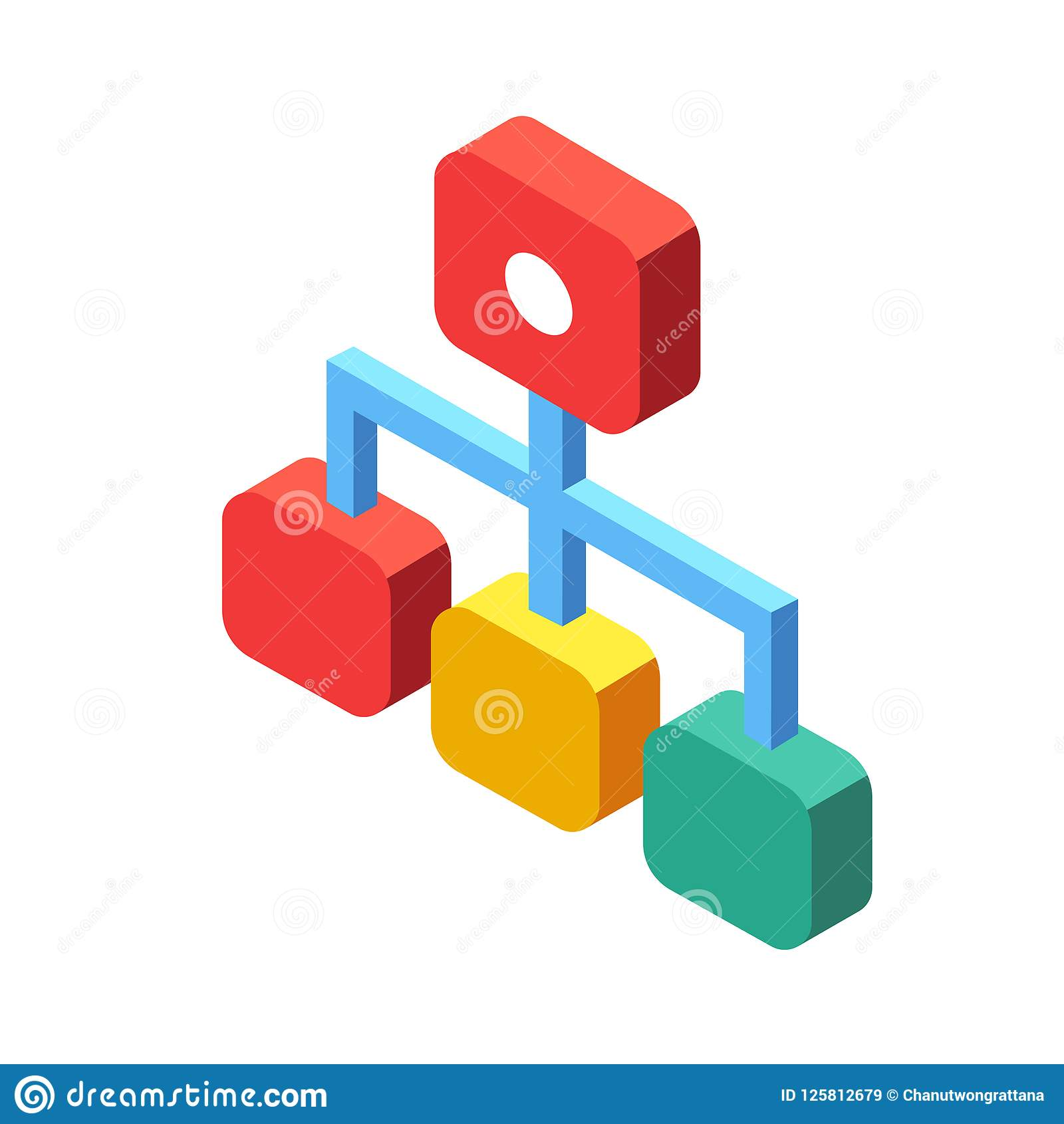 Flowchart Isometric Illustration
