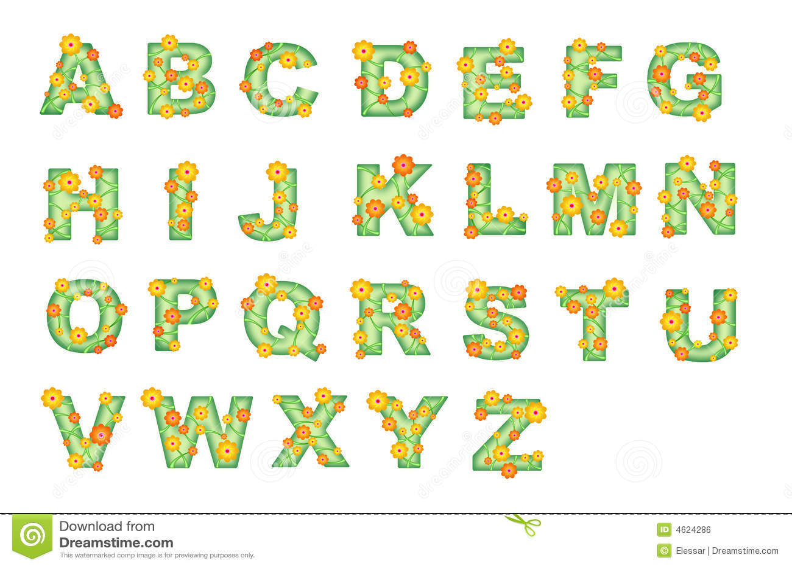 Flower Alphabet Royalty Free Stock Image Image