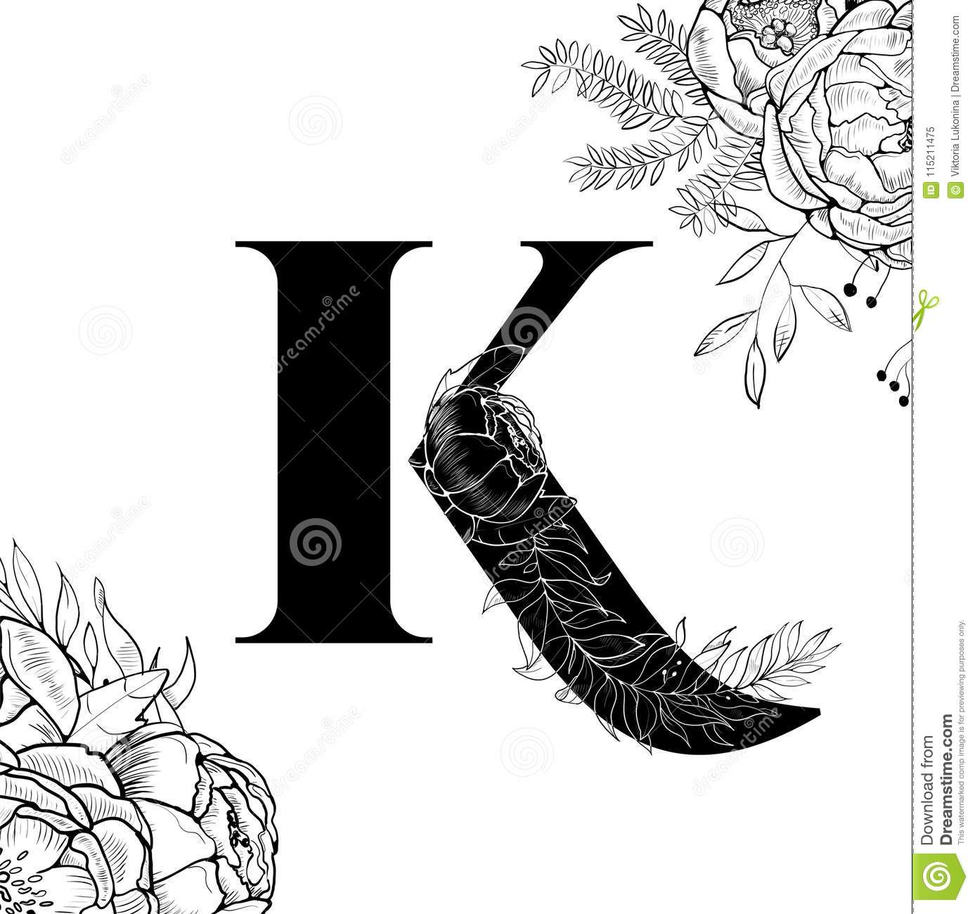 Flower Alphabet Letter K Pattern Stock Vector - Illustration ... on monogram letter template, fancy old english letter k, letter b template, fancy lowercase k, fancy monograms letter k, fancy graffiti letters, fancy letters d designs, letter y template, fancy letter k designs, fancy letter k wallpaper, fancy initial monogram fonts, printable letter m template, fancy script lettering, letter o template, fancy script letter k, fancy lettering fonts, kangaroo template, fancy calligraphy fonts, letter z template,