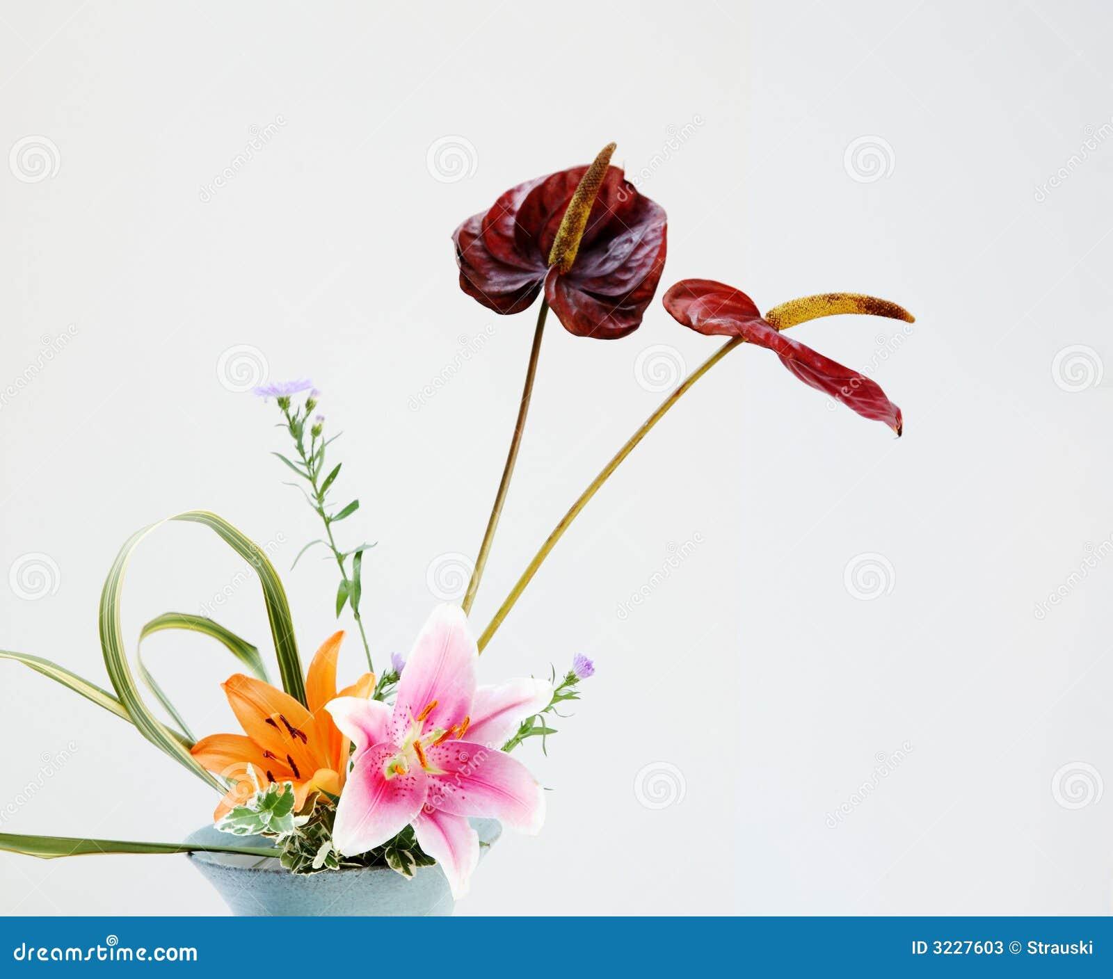 Flower Arrangement Stock Image Image Of Tiger Leaves 3227603