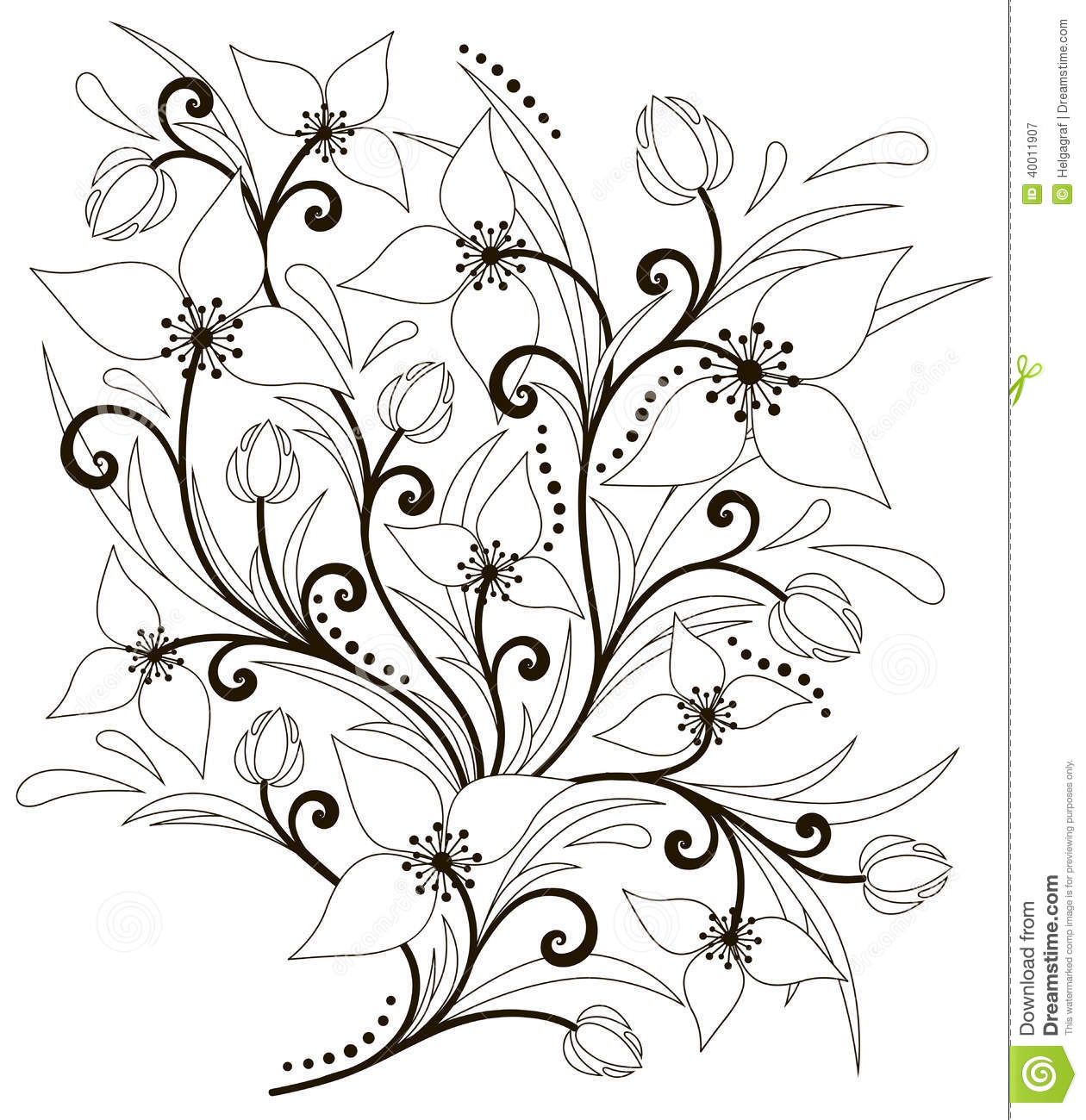 Flower Arrangement Stock Vector Illustration Of Leaves 40011907
