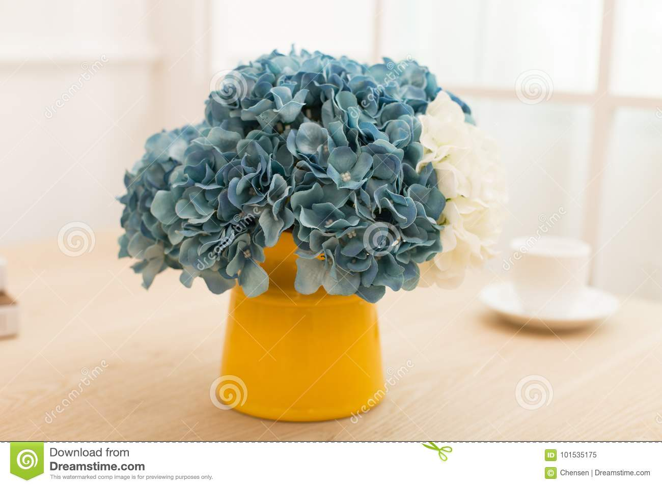 Flower Arrangement In Bottle On Table Office Desk Stock Image Image Of Living Flower 101535175