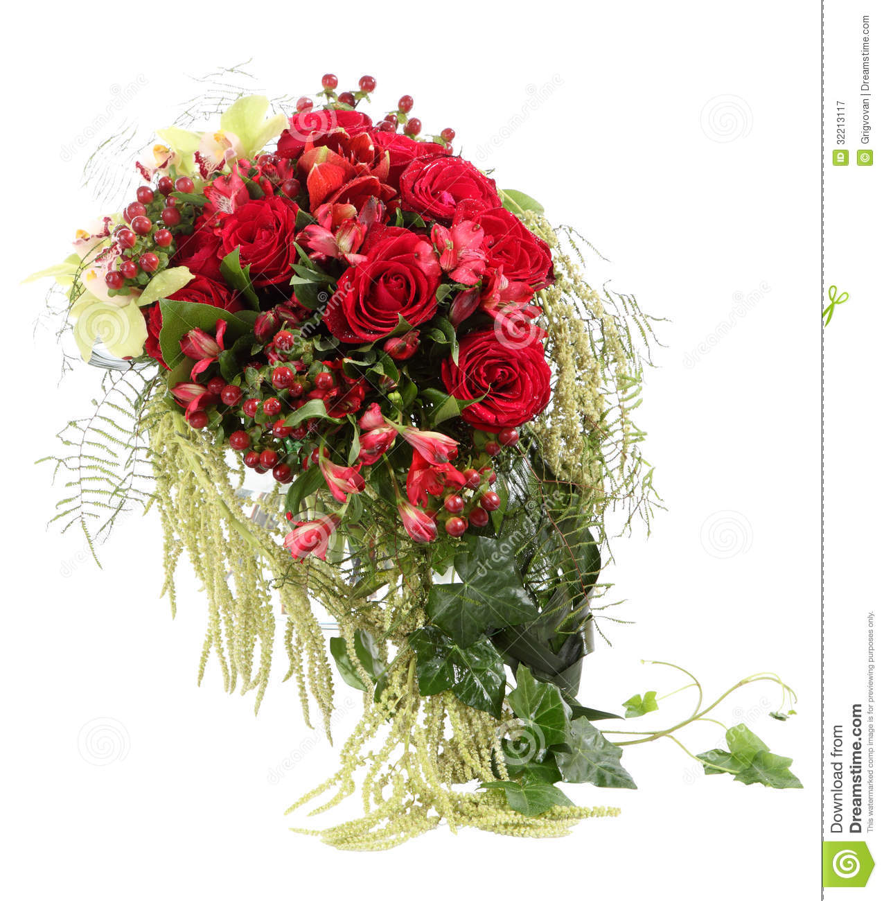 Bien connu Floral Compositions Of Red And White Roses. A Large Bouquet Of  BP45
