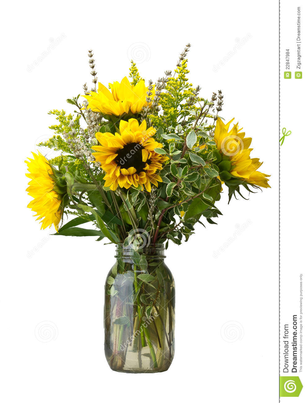 Flower arrangement with sunflowers stock images image
