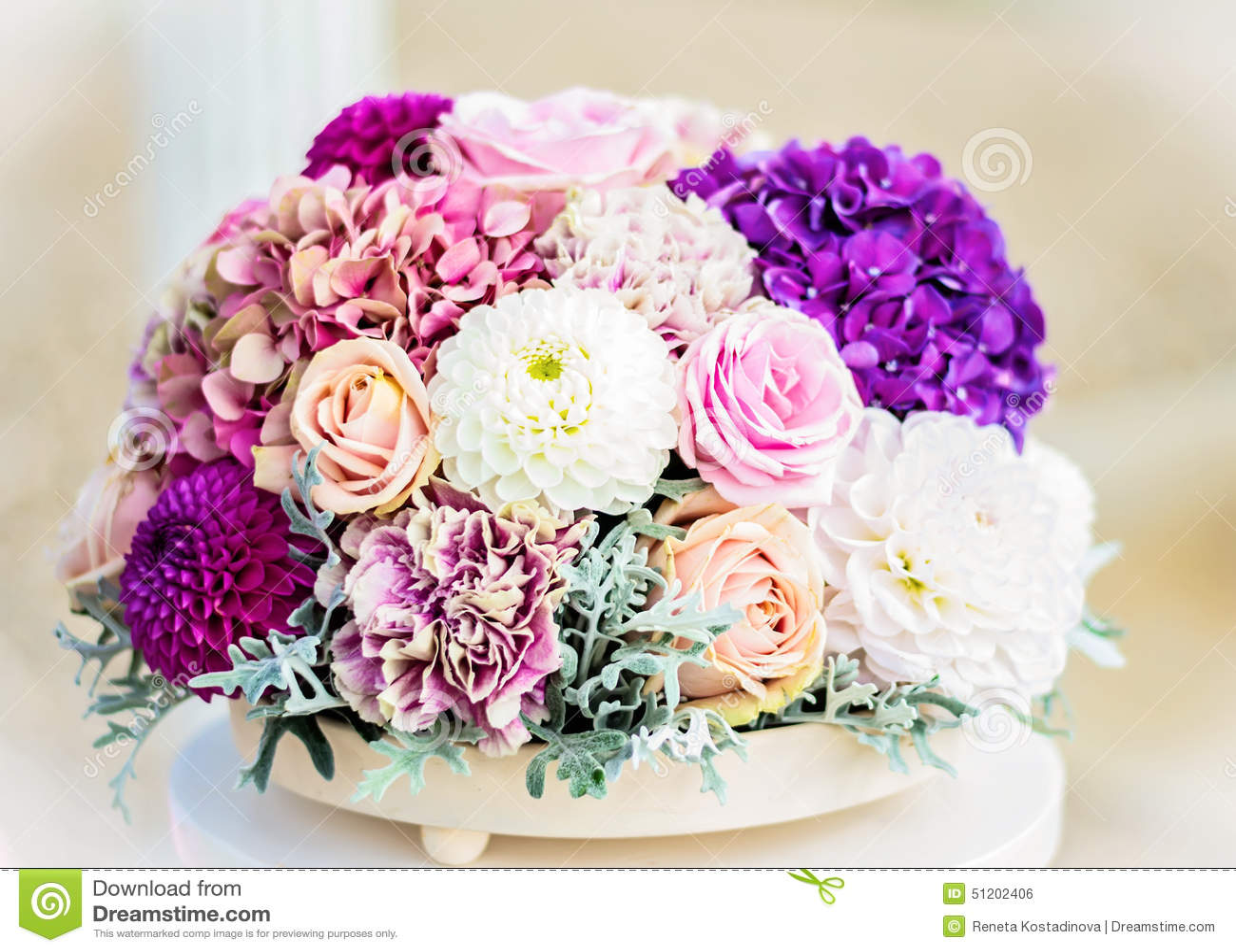 Flower arrangement in white and purple stock photo image of leaf flower arrangement in white and purple mightylinksfo Images