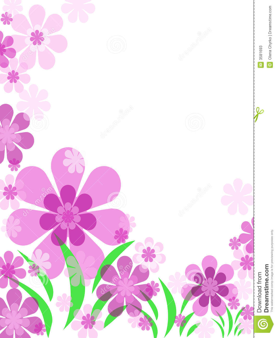 Flower Background Stock Illustration Illustration Of