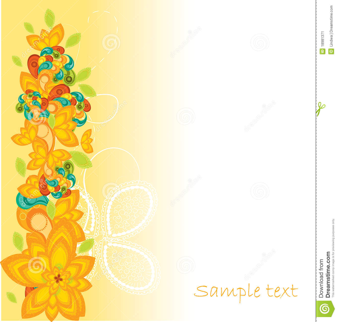 Flower Background Design Stock Vector. Illustration Of