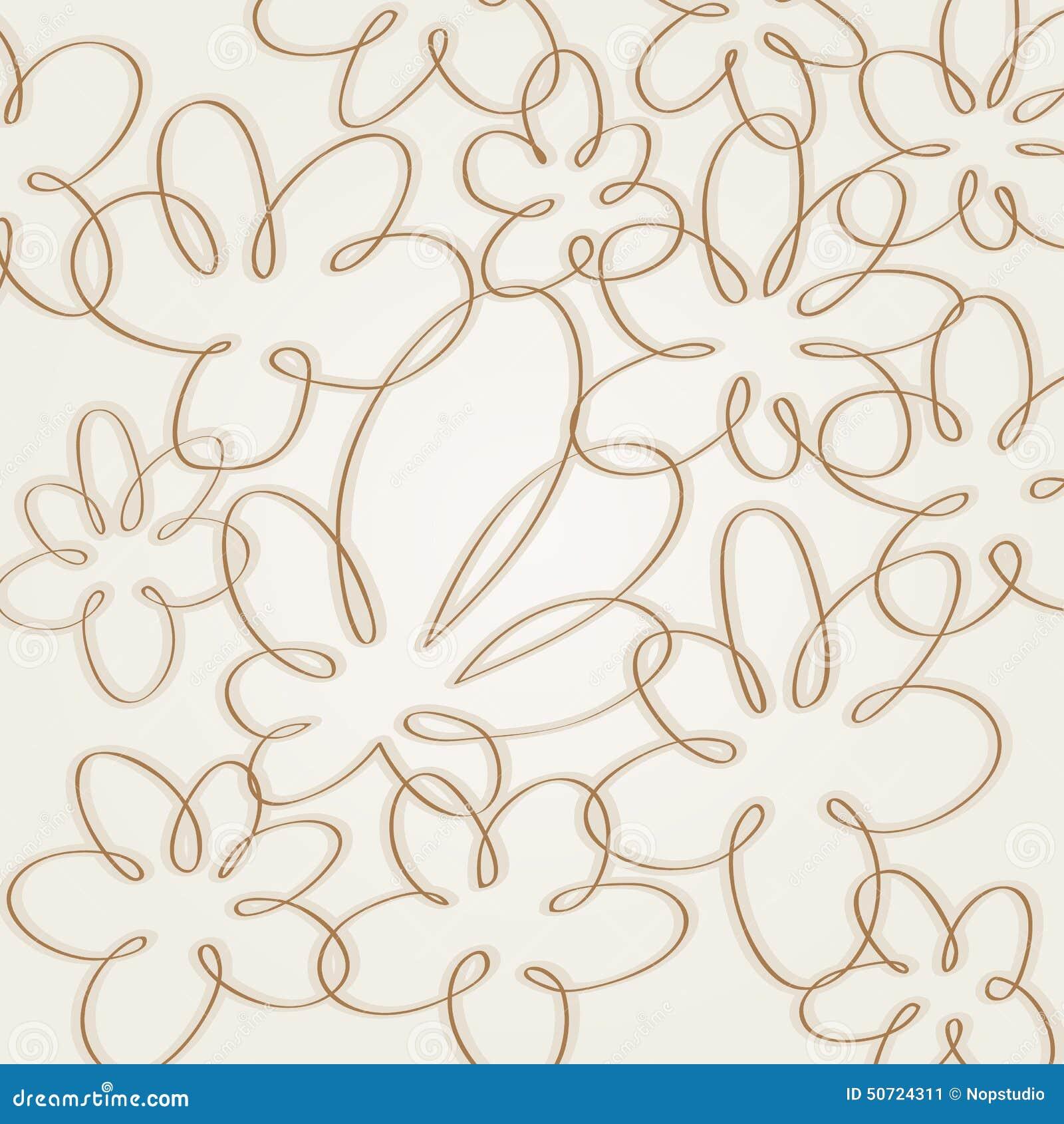 Line Art Flower Pattern : Flower background stock vector image