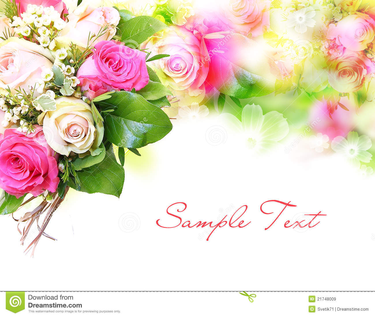 Flower Background With Structure Royalty Free Stock Image
