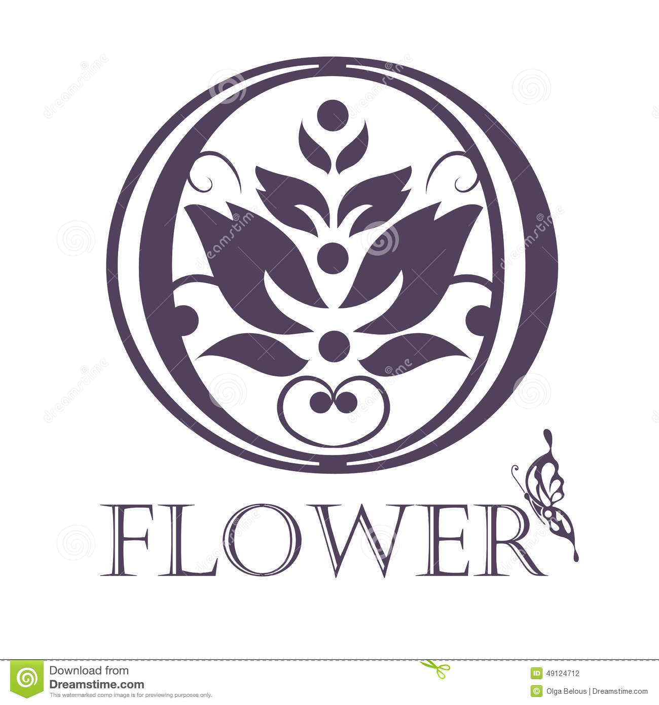 Flower Background Template Lotus Symbol Logo Stock Vector Image