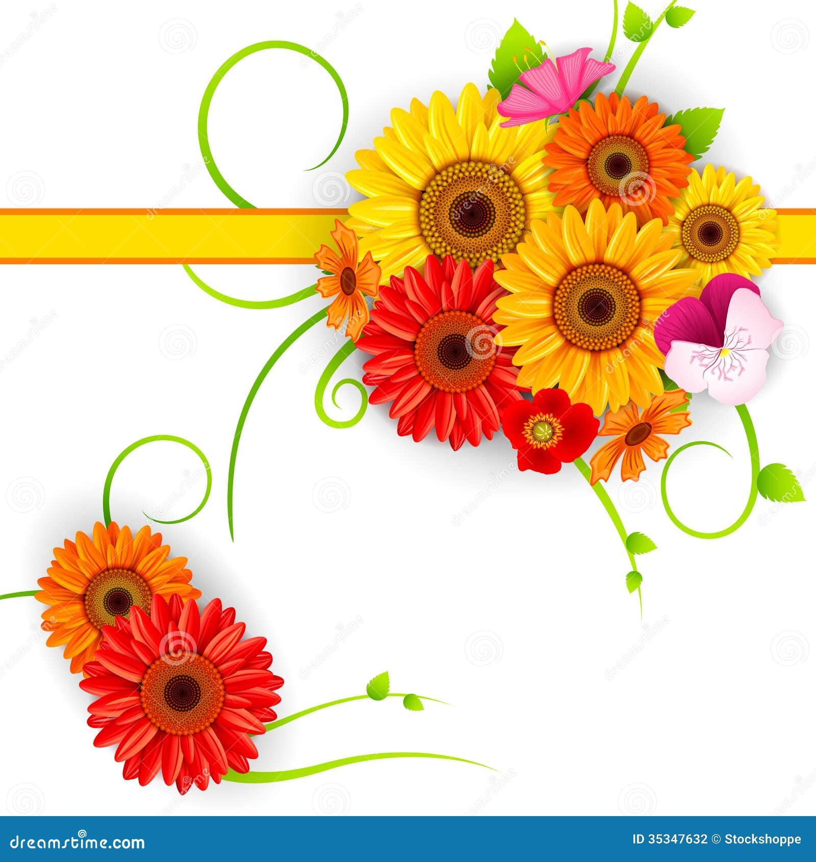 Flower Background Stock Vector. Image Of Fresh, Flora