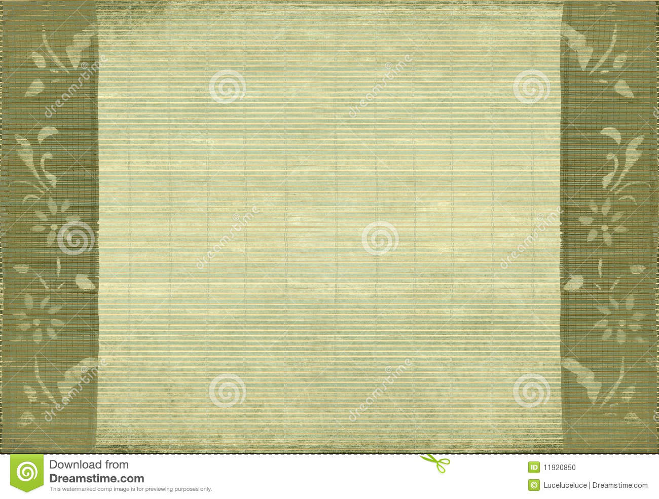 Flower and bamboo grunge sepia background