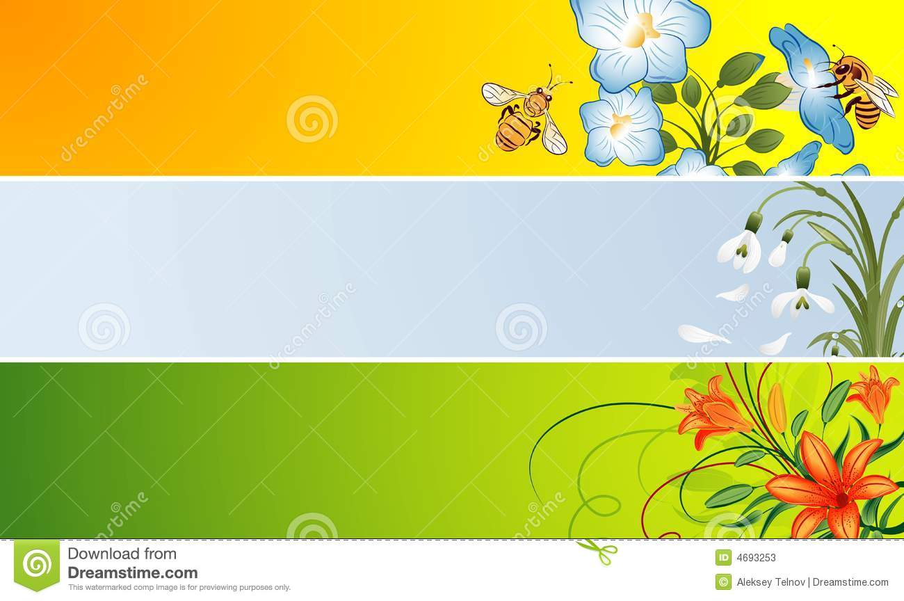 Flower Banner Stock Photos Image 4693253