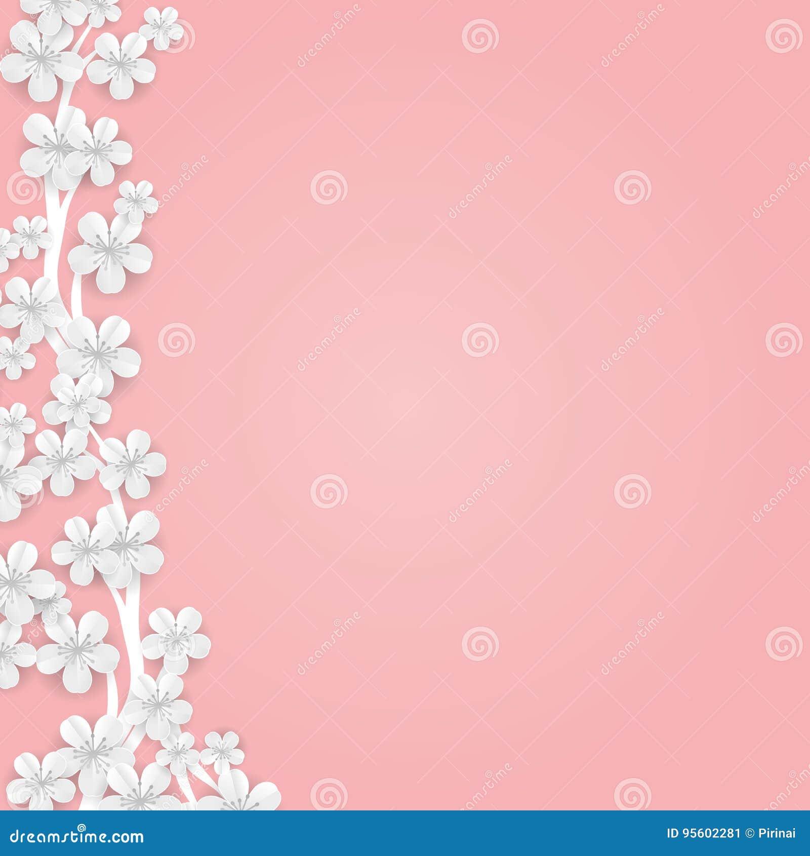 Flower Banner Background Stock Vector Illustration Of